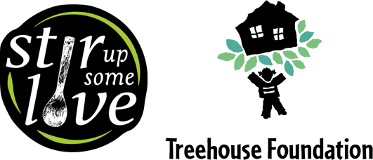Also made possible with a generous collaboration with Treehouse Foundation and Stir Up Some Love